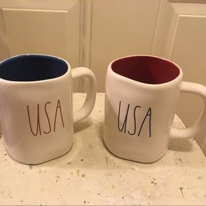 Accessories - 🌈 NWT Rae Dunn Set Of Two (2) USA Colored Mugs